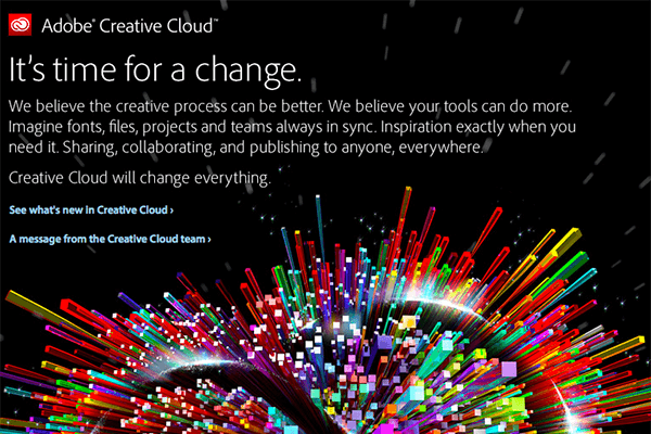 Adobe Announced Creative Cloud Transition