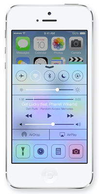 Apple iPhone with iOS 7