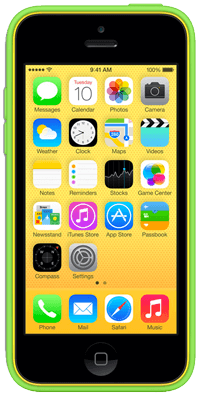 Green and Yellow iPhone 5c