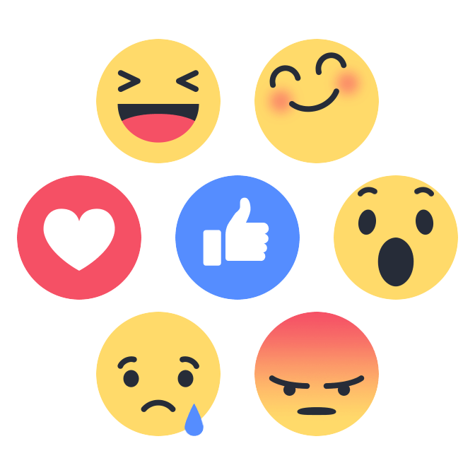 Facebook Replaces Like Button with Reactions