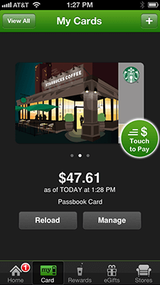 Starbucks iPhone App Payment