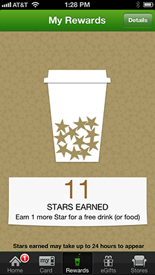 Starbucks iPhone App Rewards
