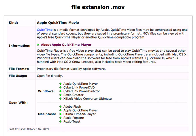 File Extension Page